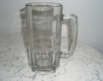 32 ounce Glass Stein,thick glass stein, Large Beer stein or Shake or Float Glass