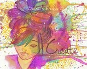 Create: signed art print on velvet fine art paper (w/personalized word option)