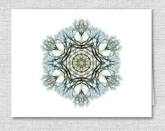 Beautiful Nature Mandala Note Cards - Stationery - Set of 10