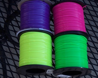 Rexlace plastic lacing,neon colors,100 yd spool,green,yellow,purple,pink,gimp,crafts,kids camp craft,USA Made,lanyard craft lace,braiding