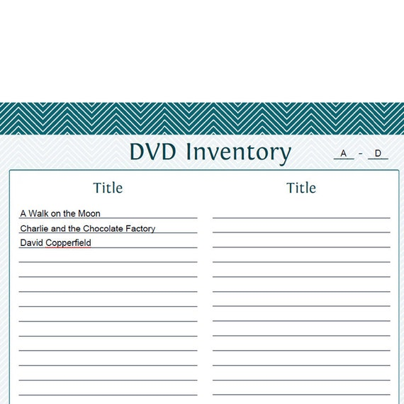 dvd inventory template