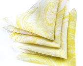 Yellow Marbled Pocket Squares/Handkerchiefs/Easter Pocket Square