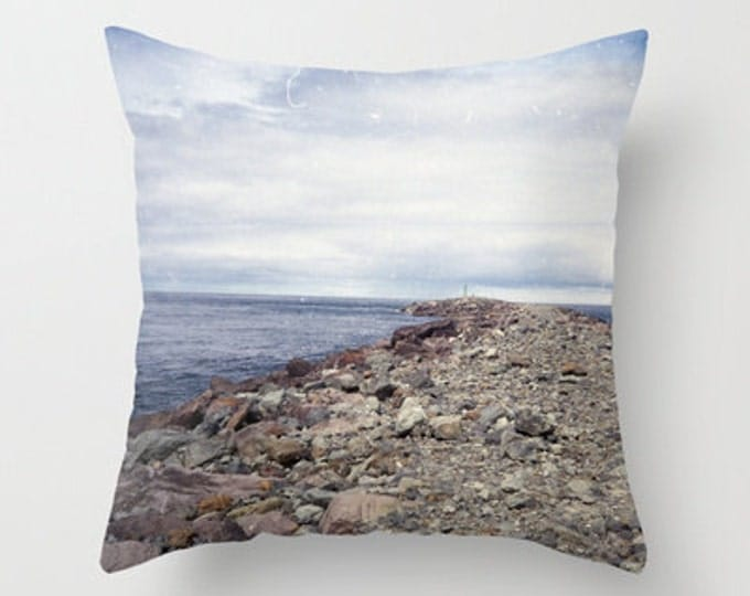 Beach Pillow Cover Only - Photo pillow Cover - Throw Pillow - Original Photo Rockaway Beach Oregon -  Made to Order
