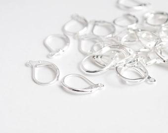 Lever Back Earrings, Silver Earrings - 20 pieces