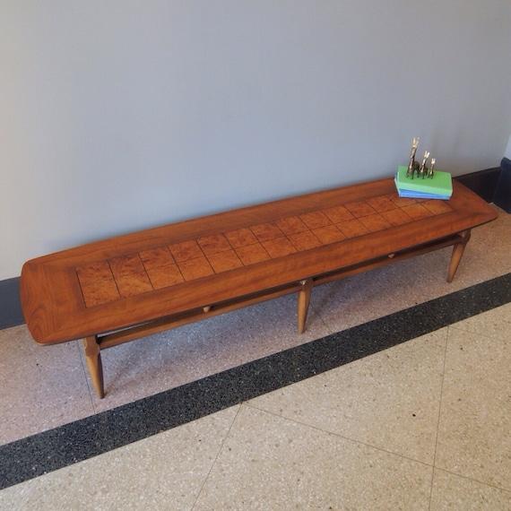 Reserved Mid Century Modern Lane Burl Wood Surfboard Coffee
