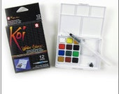 Water filled paintbrush watercolor set pocket box SALE price