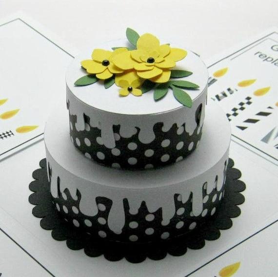 Explosion Box 3-d No Calorie Birthday Cake