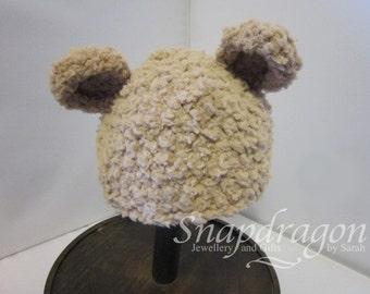 Newborn fluffy soft bear hat, newborn photo prop