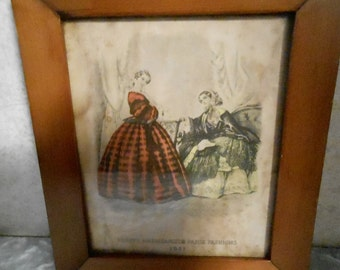 Dated 1851 Small Framed Picture