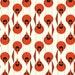 Cardinal Stagger 1/2 yard - 100% Organic Cotton - Birch Fabrics