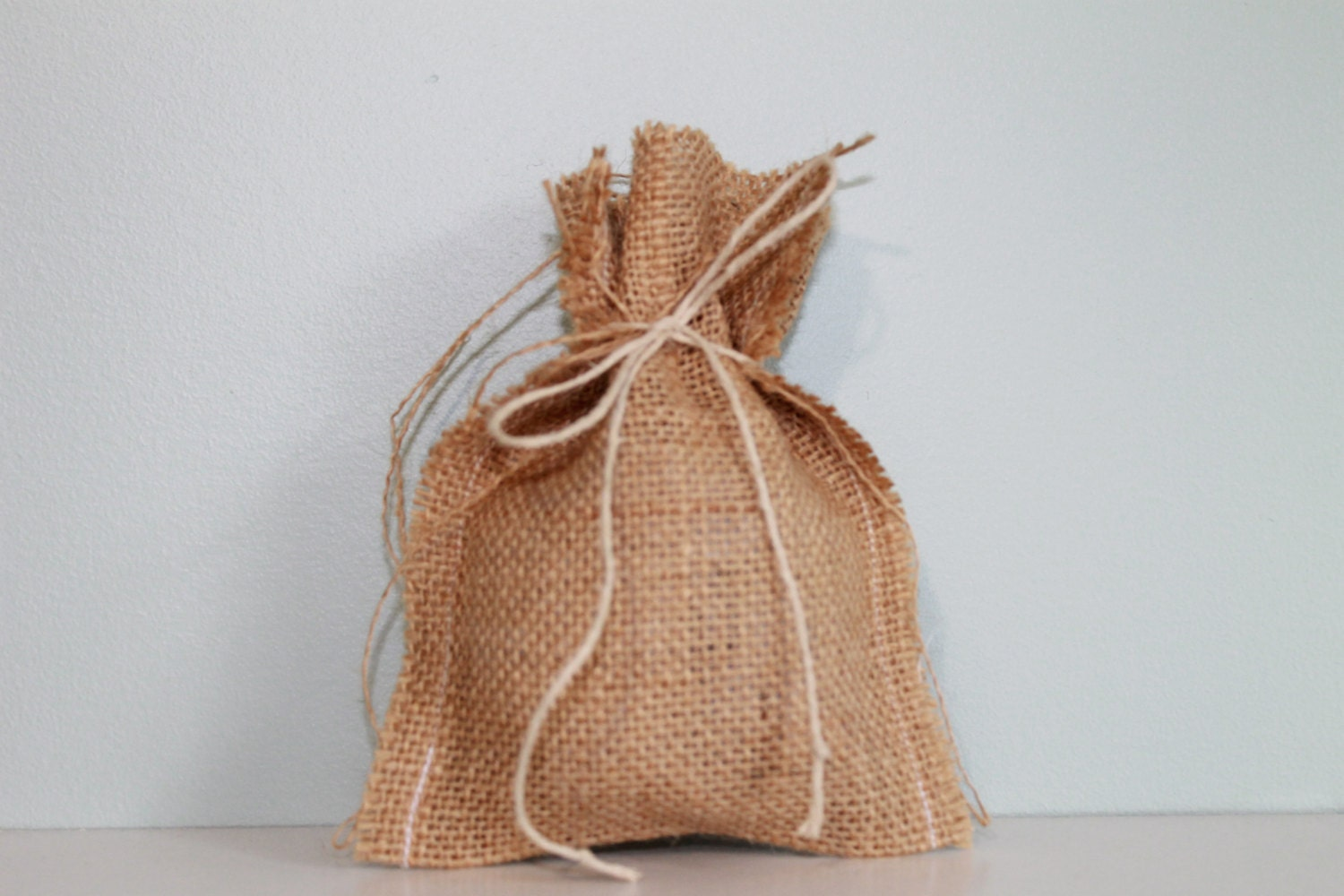 burlap wedding favor bags with twine ties available in bulk