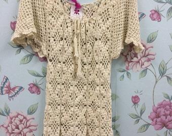 Handcrochet daisy dress