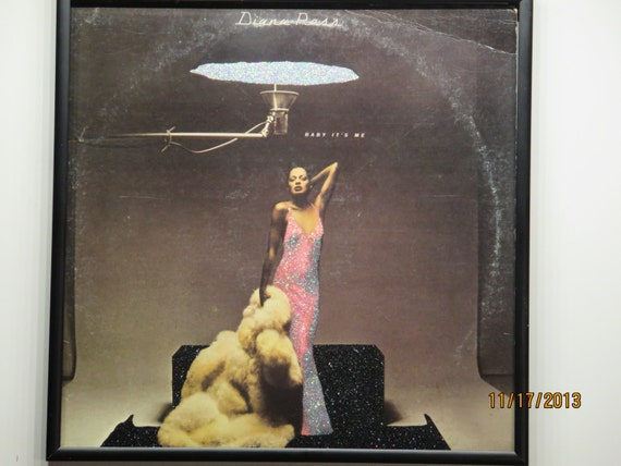 Glittered Record Album - Diana Ross - Baby It's Me