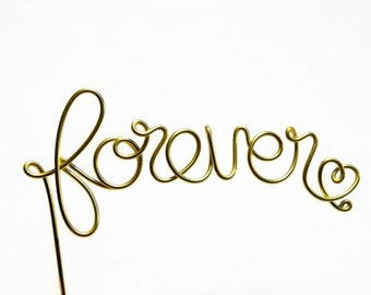 Forever Wire Wedding Cake Topper- Silver, Brown, Black, Gold, Red, Copper