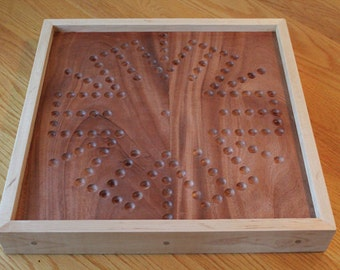 Aggravation Marbles Game Board 4 Player and 6 Player Wood Board Game Parlor Game Vintage Game (Aggravation Board)