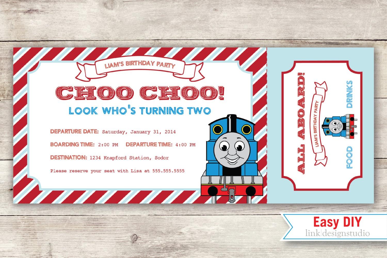 Thomas the Tank Engine Birthday Invitation by linkdesignstudio