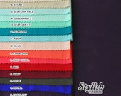 Crepe Viscose Fabric SINGLE COLOR Swatch Sample - Style 550
