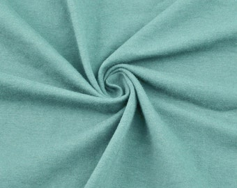 Aqua Cotton Lycra Jersey Knit Fabric Combed 10oz Cotton Stretch Cotton Spandex Fabric by the Yard - 1 Yard Style 451