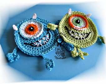 Crochet PATTERN, Applique Monster, DIY Pattern 42