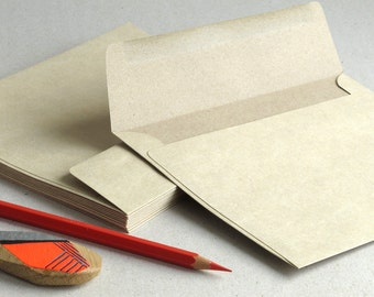 "50 A7 Light Brown Kraft Envelopes for 5x7 cards and photos - Strait Flaps (5 1/4""x7 1/4"")"