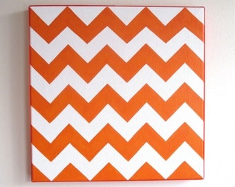 hand painted chevron 12x12 canvas, customizable