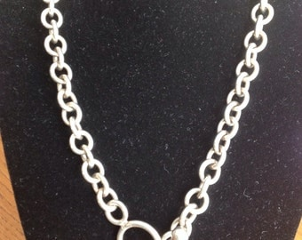 Vintage Sterling Cable Link Chain Necklace