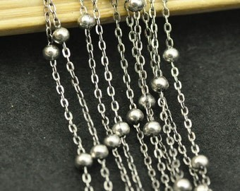 5 meters 1.5mm Antique Silver Chains/ Jewelry Chain /Links /Ball Chains