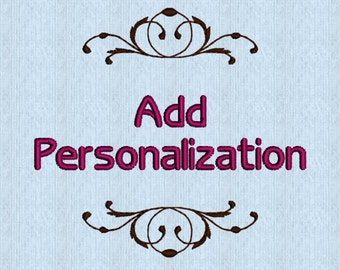 Add Personalization to Your Order