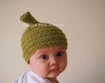 gumnut baby hat pattern - pixie hat pattern - pdf knit pattern - newborn hat pattern for baby