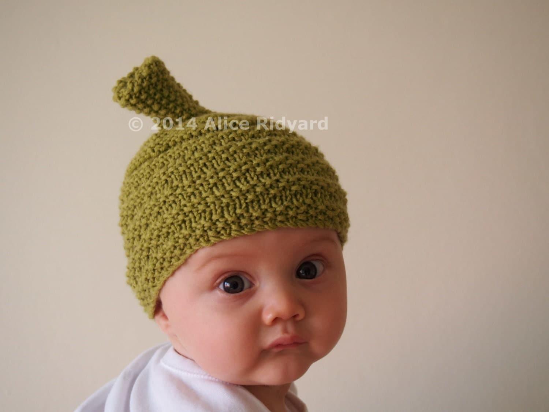 Knitting Pattern For Baby Jester Hat : gumnut baby hat pattern - pixie hat pattern - pdf knit pattern - newborn hat ...