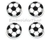 UNCUT Soccer Ball felt  applique embellishments (4)