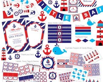 Nautical Baby Shower invitation, Nautical invitation, nautical invite, Nautical baby shower, Nautical DIY, centerpieces, Ocean, Baby Shower