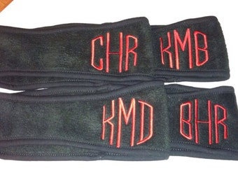 Monogrammed Fleece Headband--Black Friday Deal-Cyber Monday