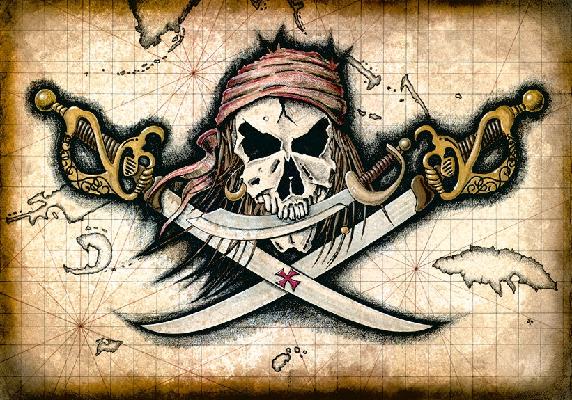 blackbeard pirate flag one piece