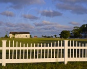 White Picket Fence in downtown Cape Charles Virginia (16 x 20 canvas)
