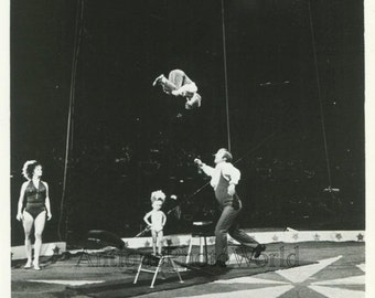 Andre Andre circus acrobat family team performing vintage photo