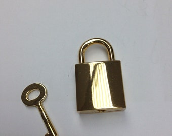 golden colour lock and key  3.5 cmx 2.0 cm, gold pad lock with key, lock, hardware