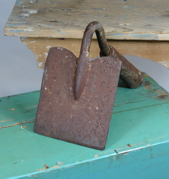 old hoe head unusual square shape gardening tool vintage On quirky gardening tools