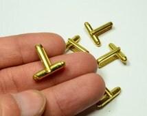 120 Pcs (60 Pairs ) Raw Brass  Mens Cufflink Backs