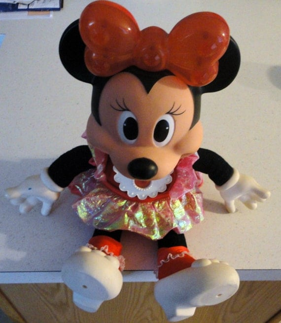 Vintage Minnie Mouse Sparkles Doll Children Girl Toy Disney