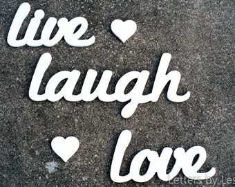 Wooden Wall Letters, Wall Words, Live Laugh Love Wall Decor