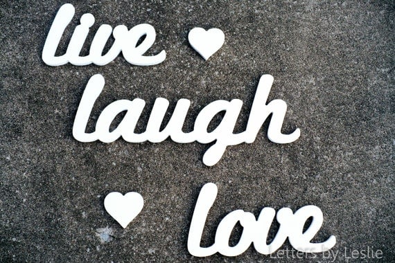 Wooden Wall Letters Wall Words Live Laugh Love Wall Decor