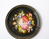 Russian tray with flowers