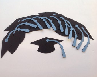 12 Die Cut Graduation Caps (848)