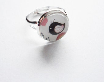 Ring swwet little bird adjustable