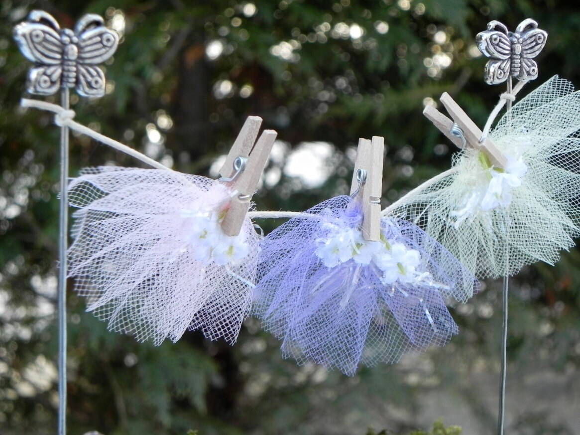 Handmade Fairy Garden Accessories Clothesline Miniature Fairy