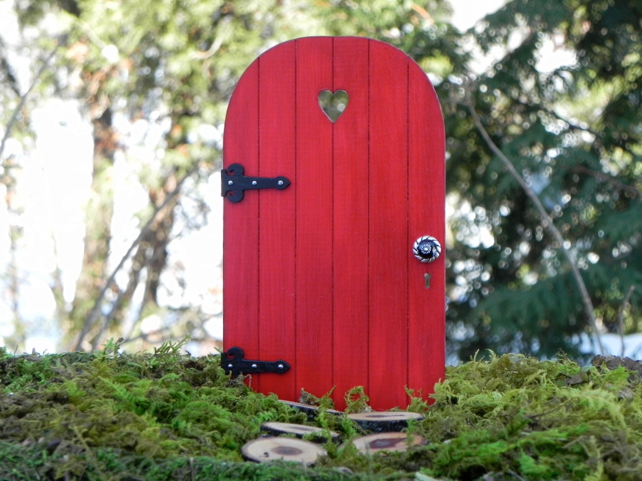 Handmade fairy door with tiny key fairy garden miniature for Fairy door with key