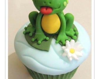 Frog Cupcake PDF Tutorial