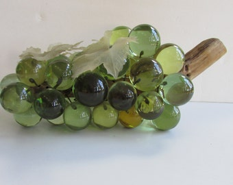 Vintage Grape Cluster Lucite/ Acrylic Driftwood 1970s