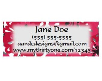 Thirty One Consultant Custom Catalog Labels - Printables Spring 2014 Prints!!